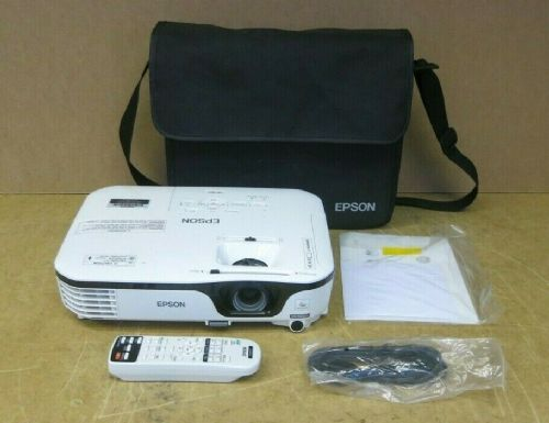 Epson EB-W12 TRI-LCD Desktop HD Ready Projector HDMI With Remote + Carry Case
